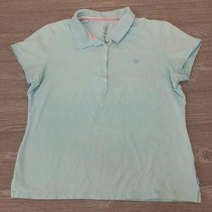 Izod light blue polo shirt size L